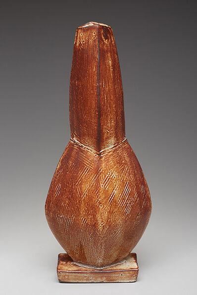 Randy Johnston, 'Figurative vase, shino glaze', 2017
