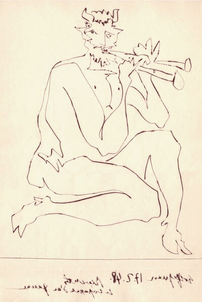 Pablo Picasso, 'Faune Flutiste II (From Deux Contes)', 1948