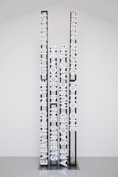 Robert Montgomery, 'The Streets Belong to no One', 2011