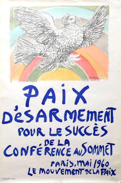 Pablo Picasso, 'Paix Desarmement pour le succes de la Conference au Sommet', 1960