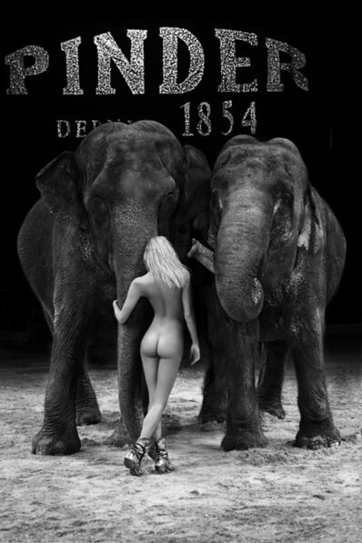 Hervé Lewis, 'BLONDE AND THE TWO ELEPHANTS '