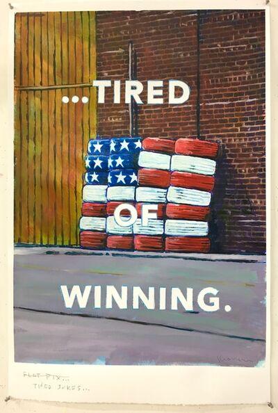 """David Kramer, '""""Tired Joke"""" (framed)', 2019"""