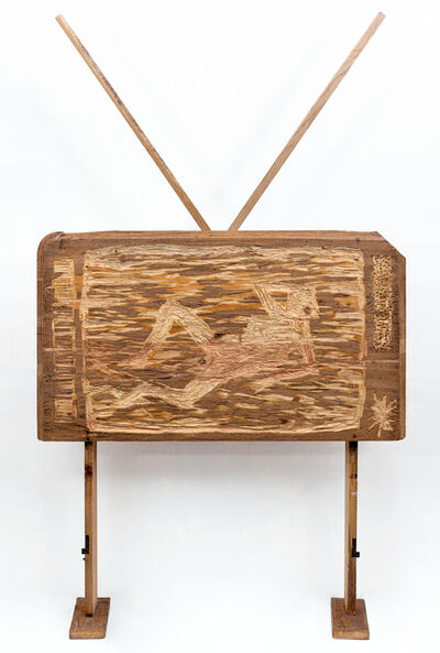 Nestor Engelke, 'WOODEN TV', 2017