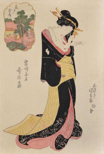 Utagawa Toyokuni III (Utagawa Kunisada), 'Tamaya at Kameido', ca. 1826