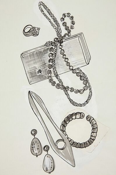 Andy Warhol, 'Shoe, Purse and Jewelry Items', 1957