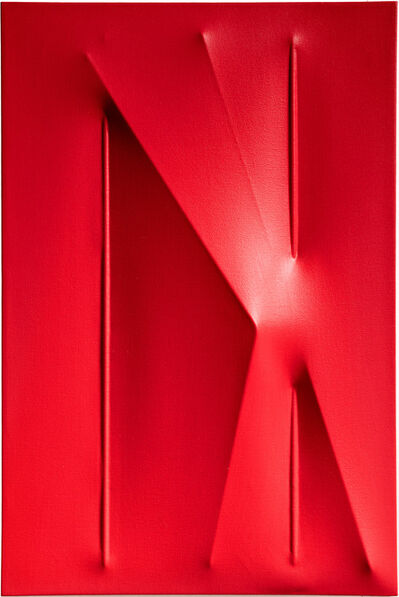Agostino Bonalumi, 'Rosso', 2010