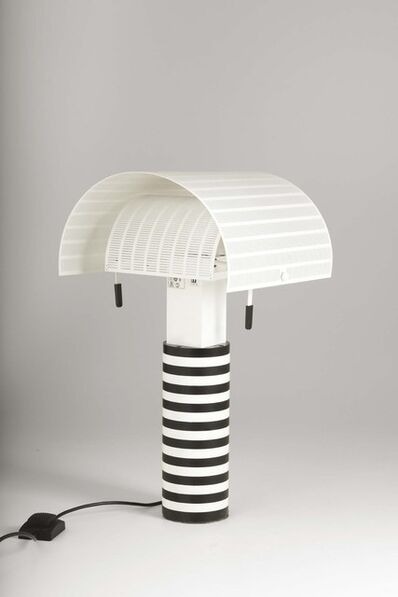 Mario Botta, 'A Shogun table lamp with a structure in lacquered metal and perforated lacquered aluminum', 1986