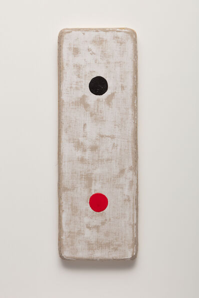 Otis Jones, 'Black and Red Circles on White', 2020