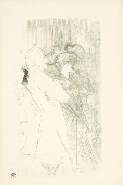 """Henri de Toulouse-Lautrec, 'Lender et Auguez dans """"La Chanson de Fortunio""""', 1895"""