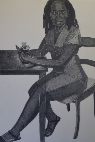 Mequitta Ahuja, 'Border (Value Scale Drawing)', 2018