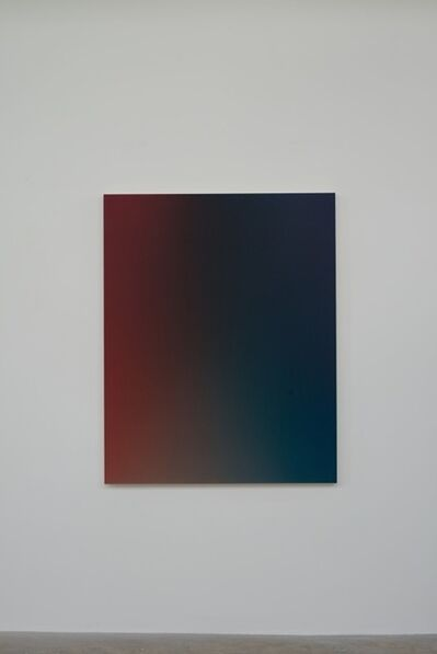 Oliver Marsden, 'Fade XXVII Deep Red Trans Blue Green / OMS 493, 2014Acrylic on canvas150 x 120 x 4.5 cm', 2014