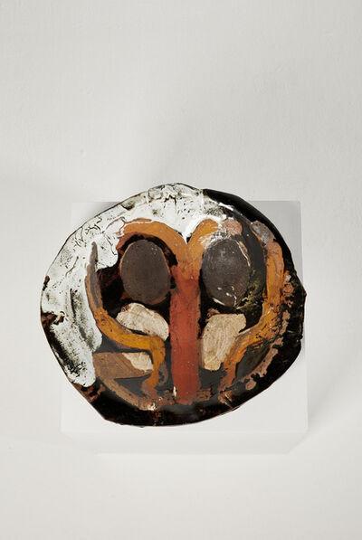 Roger Herman, 'Untitled 31 (Black, Orange, Brown, White)', 2018