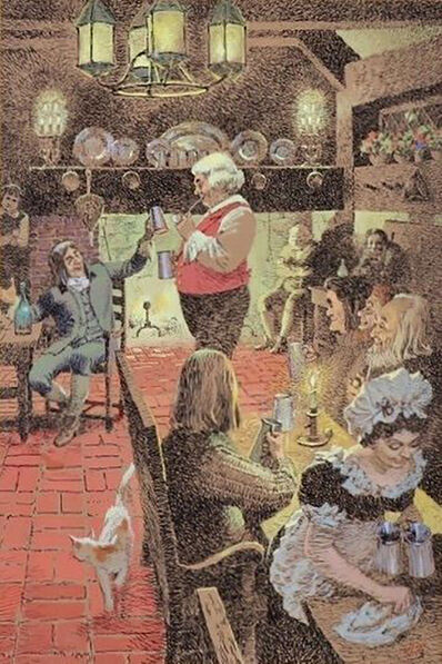 John Philip Falter, 'Tavern Scene', 20th Century