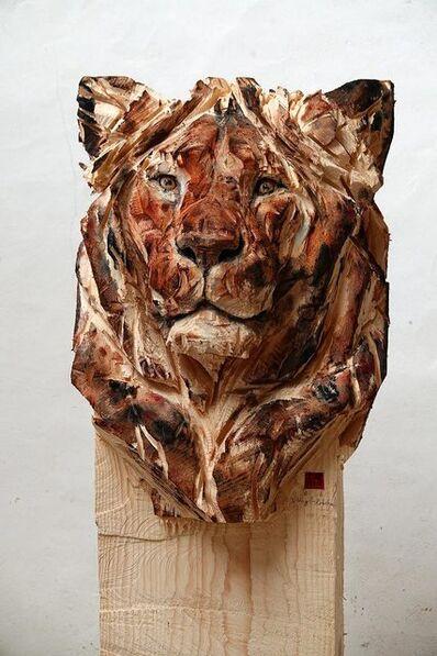 Jürgen Lingl-Rebetez, 'Buste de jeune lion', 2019