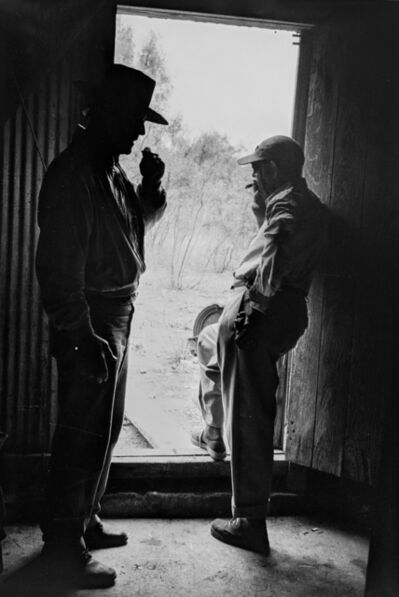 "Phil Stern, 'John Wayne and John Ford on the set of ""The Alamo""', 1960"