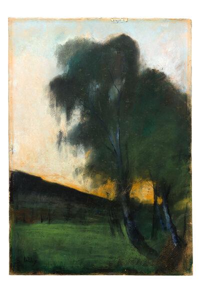 """Lesser Ury, '""""Landschaft mit Weißbirken""""', 1890-1900"""