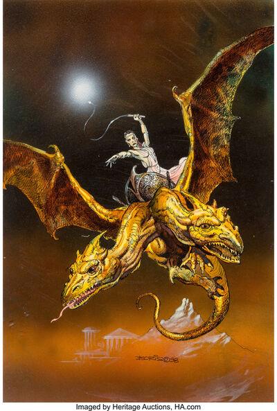 Boris Vallejo, 'Medea's Chariot, All-Chromium collector card #9', 1998