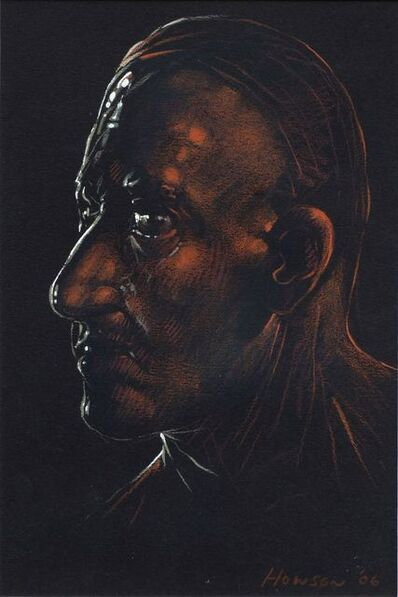 Peter Howson, 'Head in profile'