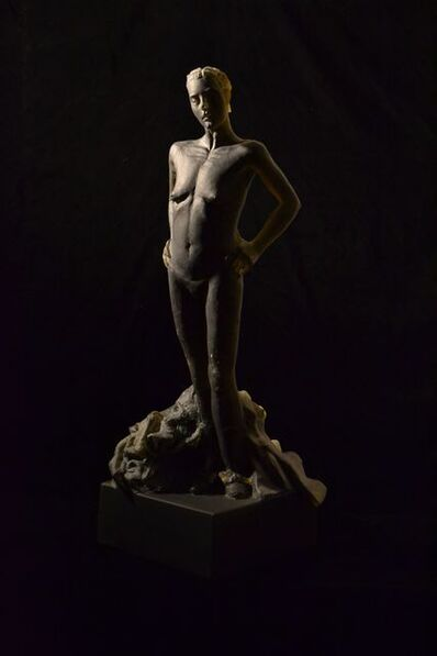 Nicolas Africano, 'Untitled (standing nude, hands on hips, with garment down around her ankles)', 2014
