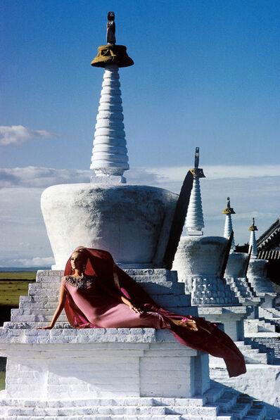 Fred Maroon, 'Outer Mongolia Pink Cashmere Erdeni Dzuu Lamasery at Karakorum', 1966