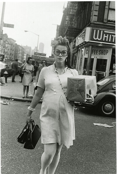 Paul McDonough, 'Pregnant Woman Crossing 85th Street, NYC', 1969