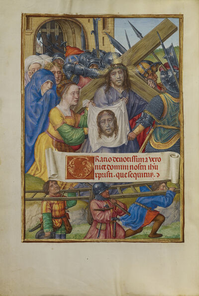 Master of James IV of Scotland, 'The Way to Calvary and Saint Veronica with the Sudarium', 1510-1520