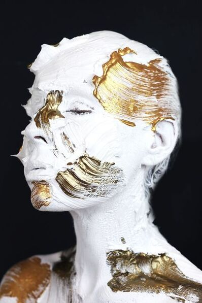 Sophie Derrick, 'Monochrome Metallics - Black, Bronze, Gold #6', 2018