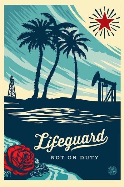 Shepard Fairey, 'Lifeguard Not on Duty - Offset', 2015