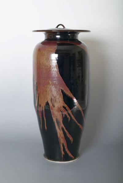 Brother Thomas Bezanson, 'Vase with lid, honan tenmoku glaze'