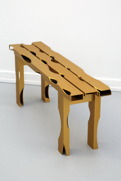 Soft Baroque, 'Carved Aluminium Bench', 2019