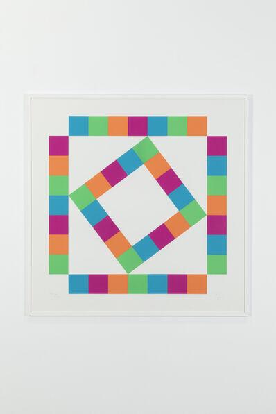 Max Bill, 'Organization of 44 colored squares, 105/125', 1980