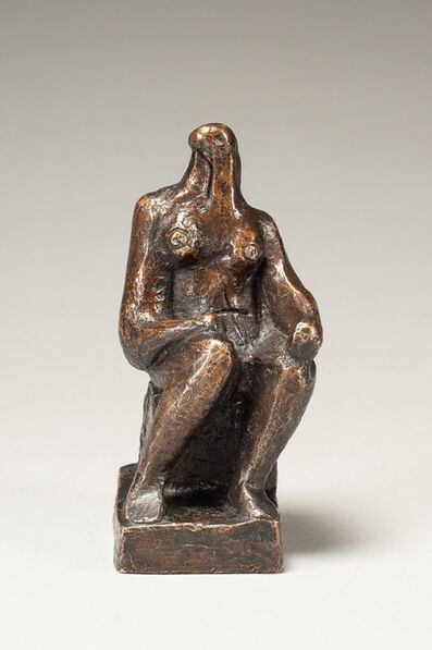 Henry Moore, 'Small Seated Figure', Conceived circa 1936; this example cast in 1957 by the Fiorini Foundry
