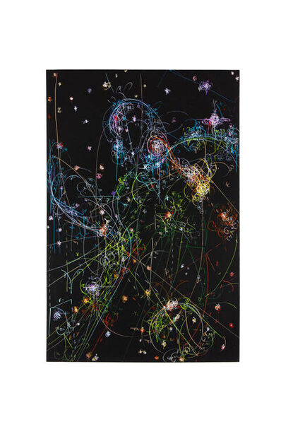 Kysa Johnson, 'blow up 326 - the long goodbye - subatomic decay patterns and the the HH47 jet emanating from a newborn star in the Bok Globule', 2017