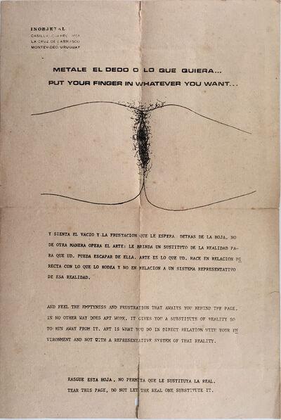Clemente Padin, 'Inobjetal 1 (Metale el dedo o lo que quiera...)', 1971