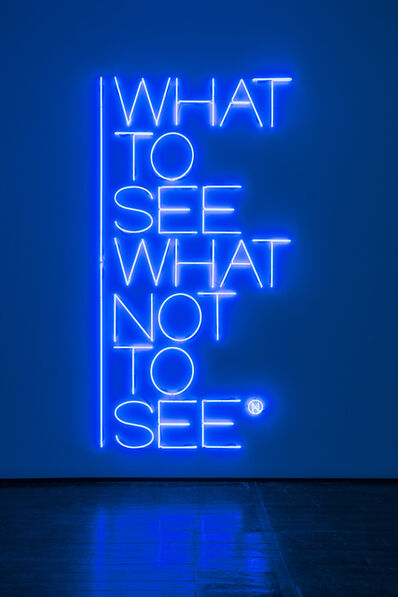 Maurizio Nannucci, 'What to see what not to see', 2017