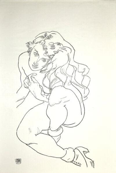 Egon Schiele, 'Crouching Female Nude', 1920