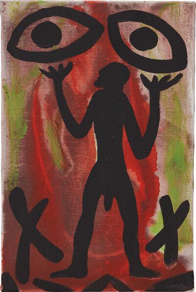 A.R. Penck, 'Feuer, Augen, Mann', 1997