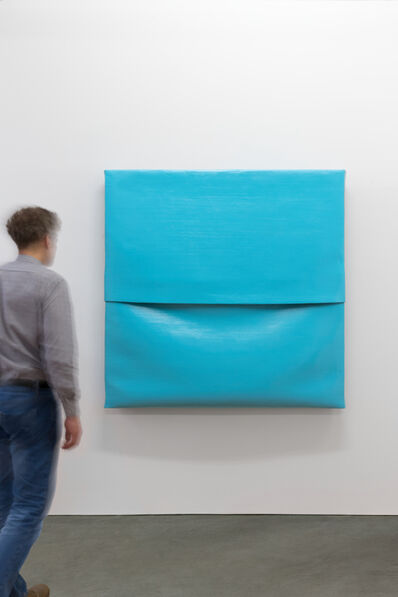 Angela de la Cruz, 'Concrete Canvas (Light Blue)', 2017