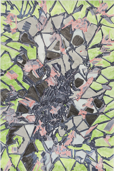 Chen Xi 陈熹, 'Details of my abstract painting that form a parallel world composed of machines. NO. 16', 2014