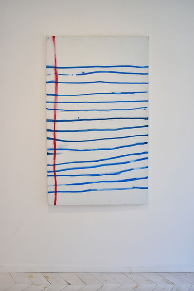 Sébastien Gaudette, 'Blue lines and a red line', 2019