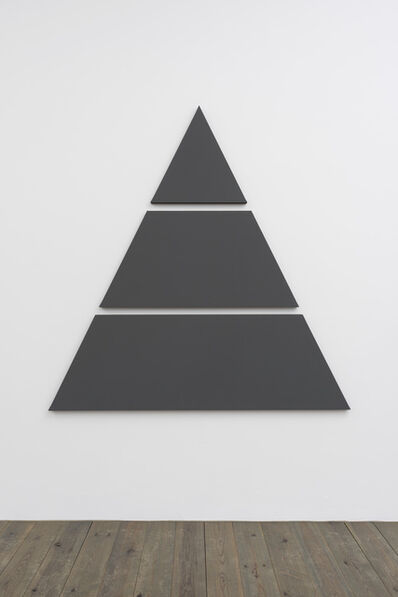 Alan Charlton, 'Triangle Painting in 3 parts', 2015