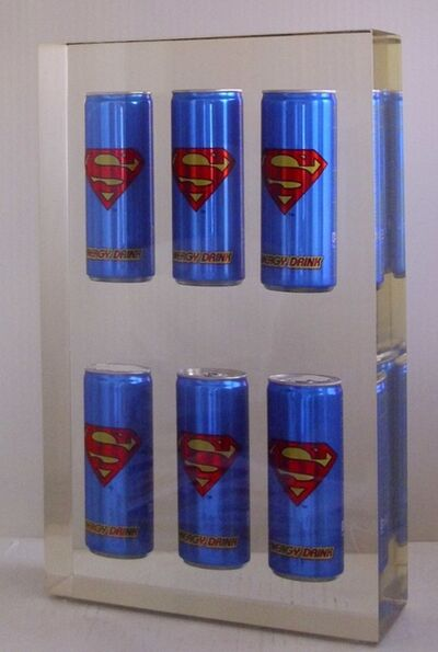 Helder Batista, 'Inclusion Superman Cans', 2017