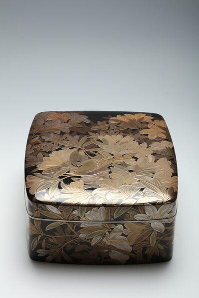 Utagawa Reimei, 'Accessory Box with Azalea and Vine (T-4340)', ca. 1950
