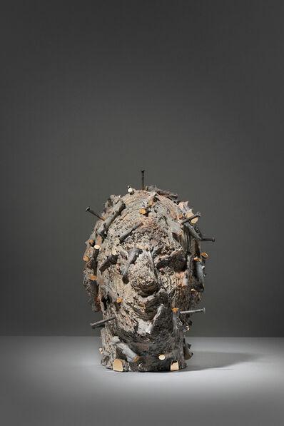 Aron Demetz, 'kopf6', 2020