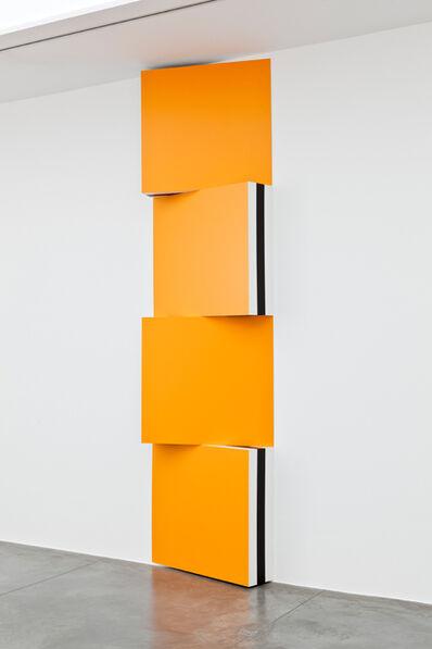 Daniel Buren, 'Voir Double - Travaux situés - Jaune d'Or - RAL 1033', 2009