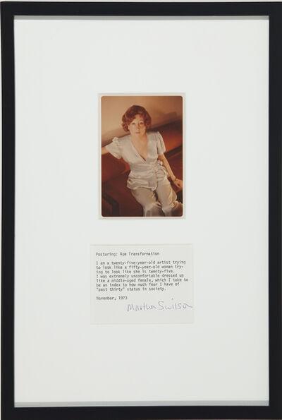 Martha Wilson, 'Posturing: Age Transformation', 1973/2008