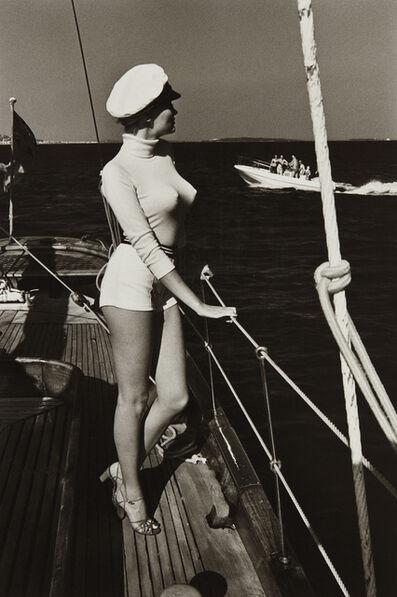 Helmut Newton, 'Winnie off the Coast of Cannes', 1975