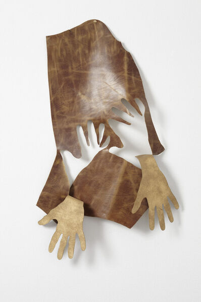 Jonathan Monk, 'Hands removed by hands (Brown & gold)', 2009