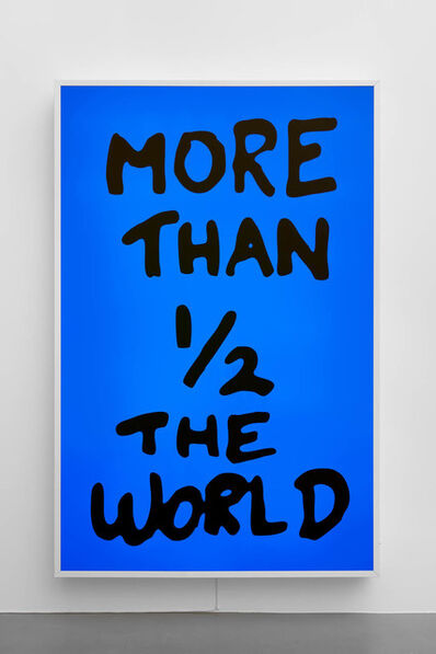 Sam Durant, 'More Than 1/2 The World', 2017
