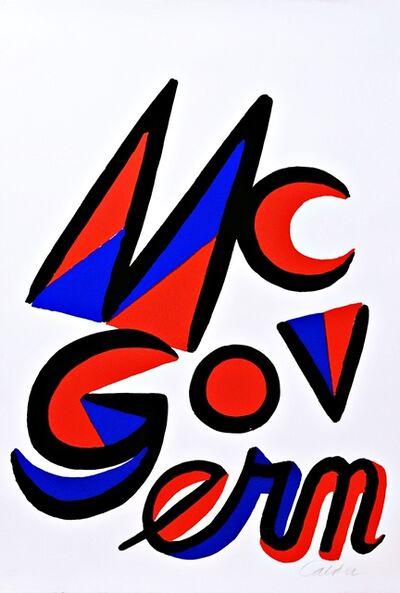 Alexander Calder, 'Vote McGovern', 1972